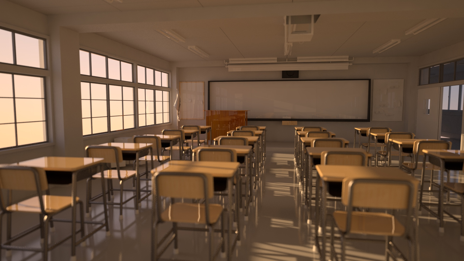 Classroom (Lighting, Redshift)