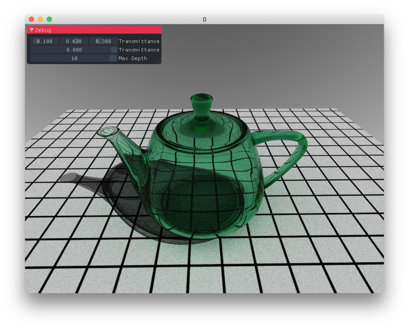 Teapot with shadow