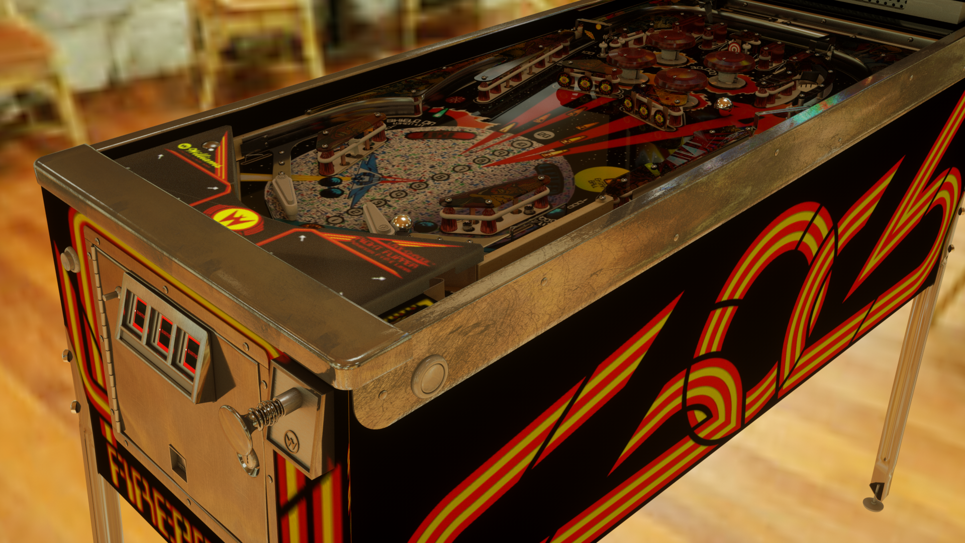 Pinball machine shading: metal